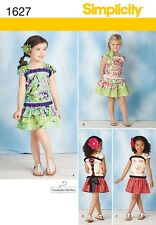 Simplicity Pattern 1627 Child's Top & Skirt girl's clothing