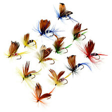 12 Pcs 2cm Wet Dry Trout Flies Fly Fishing Bass Lure Hook Stream Tackle Nice New