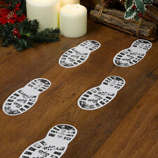 Christmas Craft Pack of 12 Santa's Boot Prints for Xmas Eve