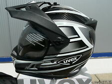 Motorcycle helmet Uvex Enduro 3 in 1 Carbon silver shiny size XL