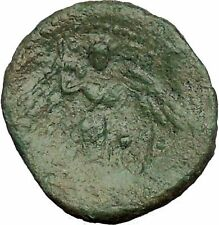 SYRACUSE in SICILY  212BC Nike Sacrifices Bull Athena RARE R1 Greek Coin i52761