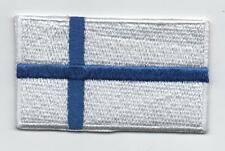 Embroidered FINLAND Flag Iron on Sew on Patch Badge HIGH QUALITY APPLIQUE