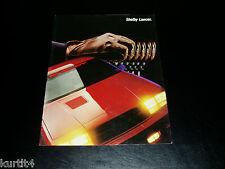 1987 Dodge Carroll Shelby Lancer sales brochure dealer literature 6 page folder