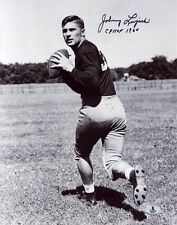 JOHNNY LUJACK SIGNED AUTOGRAPHED 11x14 PHOTO + CFHOF 1960 NOTRE DAME BECKETT BAS