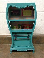 2003 Barbie Doll My Scene Cafe Playset Coffee Shop Teal Cupboard Furniture
