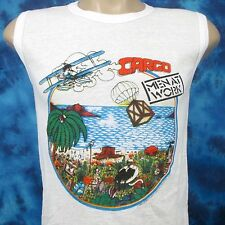 NOS vintage 1983 MEN AT WORK CARGO TOUR MUSCLE T-Shirt XXS rock concert thin 80s