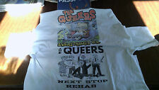 THE QUEERS VINTAGE T SHIRT LOT LOOKOUT RECORDS SCREECHING WEASEL RAMONES MTX