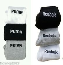 Combo Set of 6 pairs Reebok and Puma logo Sports ankle length Socks