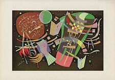 "1958 Vintage KANDINSKY ""COMPOSITION X"" FABULOUS COLOR Art Print Lithograph"
