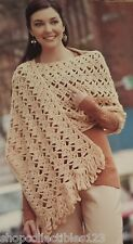 Red Heart Soft Handmade Crochet Womens Shawl Fancy Large Beige Wrap (BRAND NEW)