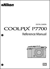 Nikon CoolPix P7700  Digital Camera User Guide Instruction  Manual