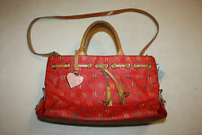 Dooney & Bourke Red Signature Logo Doctor Style Hand Bag, GUC, Authentic