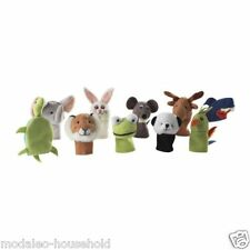 IKEA Set of 10 TITTA DJUR Finger Puppet Animal Character Toys For Kids-B786