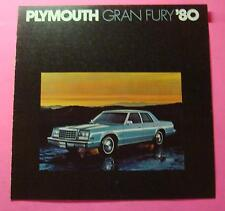 1980  PLYMOUTH  GRAN FURY SHOWROOM SALE BROCHURE ..4- PAGES