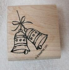 Stampin Up Rubber Stamp Winter Christmas Bells on a Bow  Never Used !