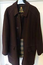 HOUSE OF BIJAN Brown Cashmere Wool Mens Overcoat  sz. 50