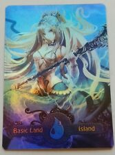 Foil Basic Land Island | MTG custom altered full art land EDH Commander