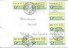 Germany    Deutsche Bundespost   DBP 10   1988   Automatic Machine   ATM   Cover