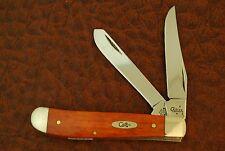 CASE XX USA SMOOTH CHESTNUT BONE MINI TRAPPER KNIFE 6207 SS 2007 NICE (FZ167)