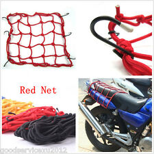 Motorcycle Luggage Helmet Red Storage Fixed 6 Hooks Resiliency Net Bag For KYMCO