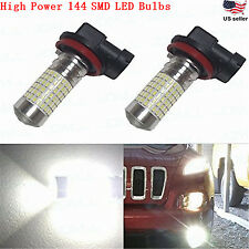 JDM ASTAR 2x H11 H8 Extremely Bright 6000K White 144 SMD LED Fog DRL Lights Bulb
