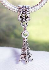 Eiffel Tower Paris France Landmark Dangle Bead for European Style Charm Bracelet