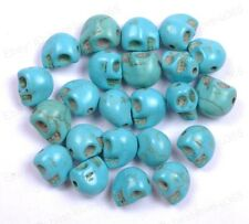 20pcs  Turquoise Carved Skull Spacer Loose Beads Charms 10X8MM