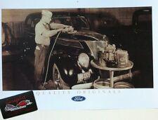 "1930's Ford Detroit Hall Dodds Body Shop Reprint 11x17"" Photo Garage Decor"