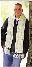 Crochet Continental cable scarf  pattern, instruction sheet