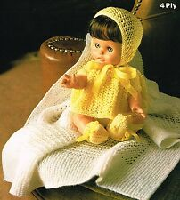 "Dolls clothes knitting pattern.12-14-16"" doll.Laminated copy. (V Doll 146)"