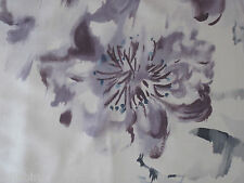 "DESIGNERS GUILD CURTAIN FABRIC  ""Oriental flower"" 3.6 METRES THISTLE 100% SILK"