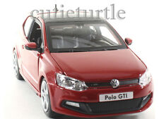 Bburago VW Volkswagen Polo GTi Mark 5 1:24 Diecast Model Car Red