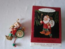ONE ELF MARCHING BAND with MOVEMENT Hallmark 1993 Ornament DRUM CYMBALS BELL NEW
