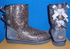 UGG Australia Navy Glitter Leopard Bailey Bow Boots Size US 7,EU 38 NEW * RARE *