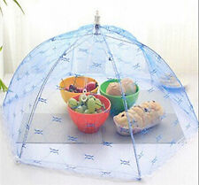Fold Food Cover Tent Umbrella Collapsible Cake Covers Lace Mesh Net Insect WB