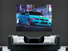 MITSUBISHI LANCER EVOLUTION poster STREET RACER AUTO Giappone NEON PICTURE