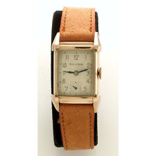 Vintage Bulova Wrist Watch 21-Jewel Mechaincal Hand Wind Rectangular Case C1950s