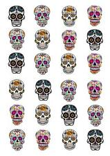 Sugar Skull Skulls STAND UP Cupcake Cake Toppers Edible  Decorations edible cake