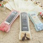 Remote Control Cover Dustproof Case Bags Bowknot Lace TV Control Protector Pop