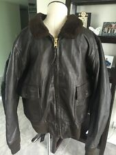 G-1 Barely Worn Excelled DSCP Leather Flight Jacket USMC Marines USN Sz 46 XL