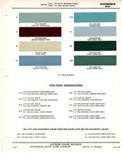 1951 OLDSMOBILE 88 SUPER 88 98 51 PAINT CHIPS DITZLER 6