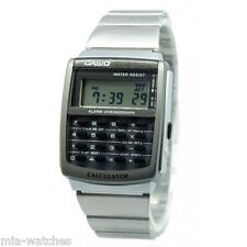 Casio CA506-1 Mens Classic Digital 8-Digit Calculator Stainless Steel Watch NEW