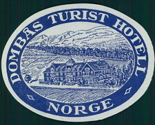 DOMBAS TURIST Hotel old luggage label Norway