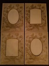 Lot of 4 Vintage Photo Album Pages or Use as Picture Frame Mats