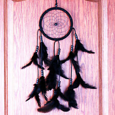 Dream Catcher Circular With Black Feathers Wall Hanging Decoration Decor Craft