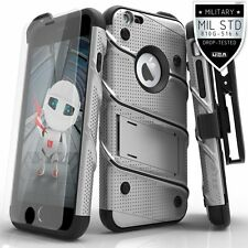 iPhone 6 Plus Case Cover Kickstand Holster FLAGSHIP With Tempered Glass