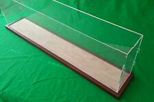 """42"""" Clear Acrylic Table top Display case box for Fireplace Mantel wooden base"""