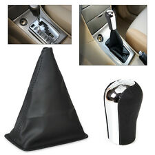 5 Speed Gear Stick Shift Knob + Gaiter Boot Cover Fit 1998-2009 Toyota Corolla