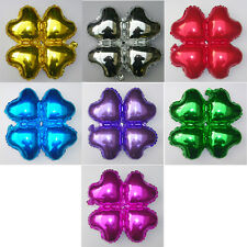 "18"" Heart Round Four Leaf Shape Foil Balloons Make Arch Column For Wedding Decor"