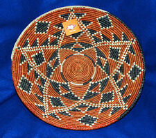 "Basket Finely Handwoven Collectible Decorative New Pakistan 14.5x3"" #81"